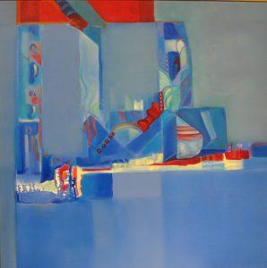 Série Bleu 60x60 - Micheline Bousquet